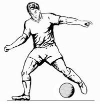 Desenho de Jogador Atuando